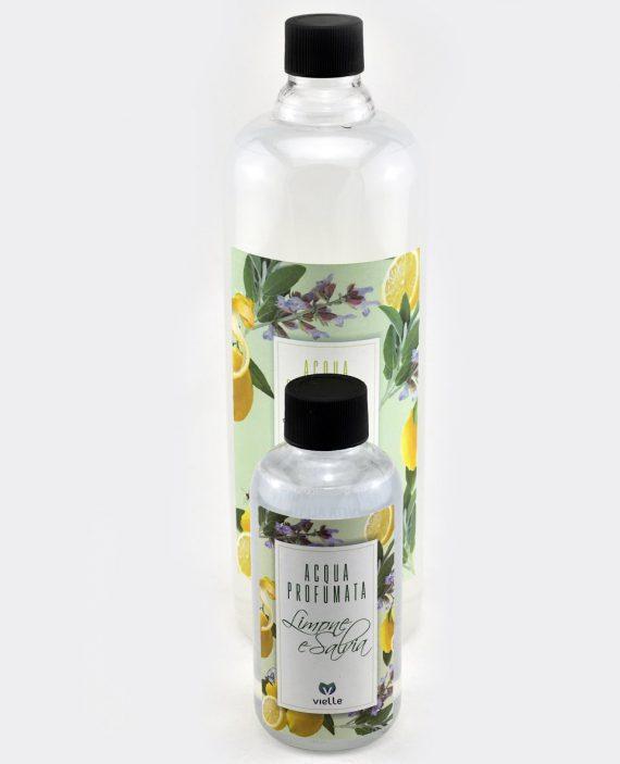 Ricarica profumatore d'ambiente Limone Salvia in confezione da 250ml. e ricarica da 1litro