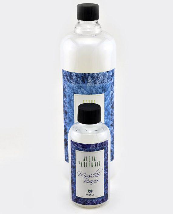 Ricarica profumatore d'ambiente Muschio Bianco in confezione da 250ml. e ricarica da 1litro
