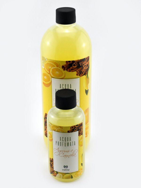 Ricarica profumatore d'ambiente Agrumi e cannella in confezione da 250ml. e ricarica da 1litro